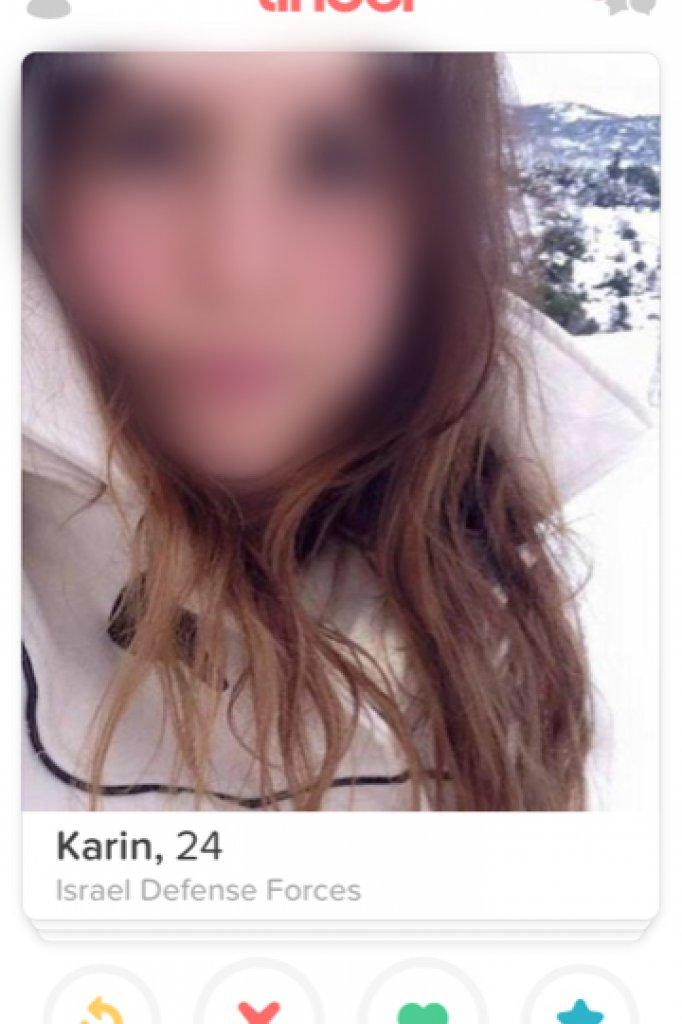 Het Tinder-account van Karin.