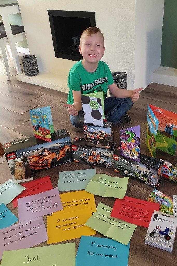 Chantal maakte een verjaardagsspeurtocht voor haar zoon