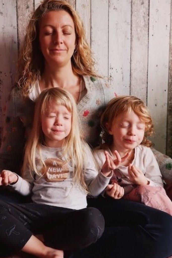 Janneke en haar kinderen.