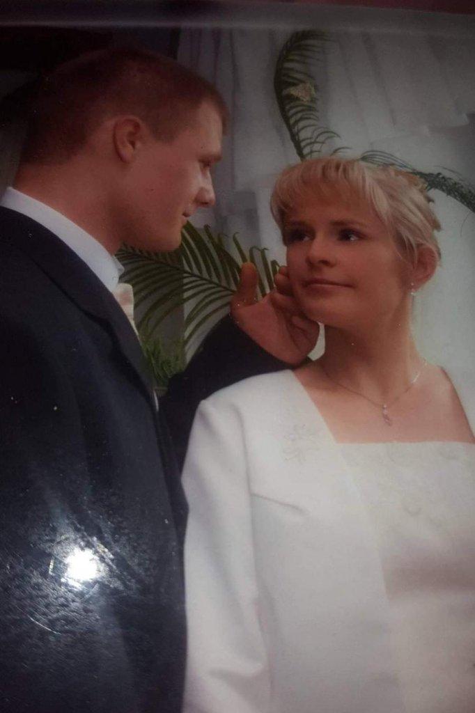 Marcin en zijn vrouw tijdens hun huwelijk