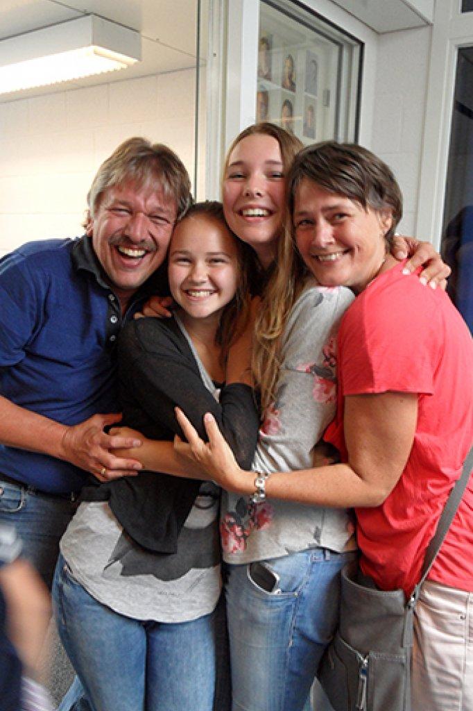 In 2014 op het doveninternaat Guyot, toen Jolien met de middelbare school begon.