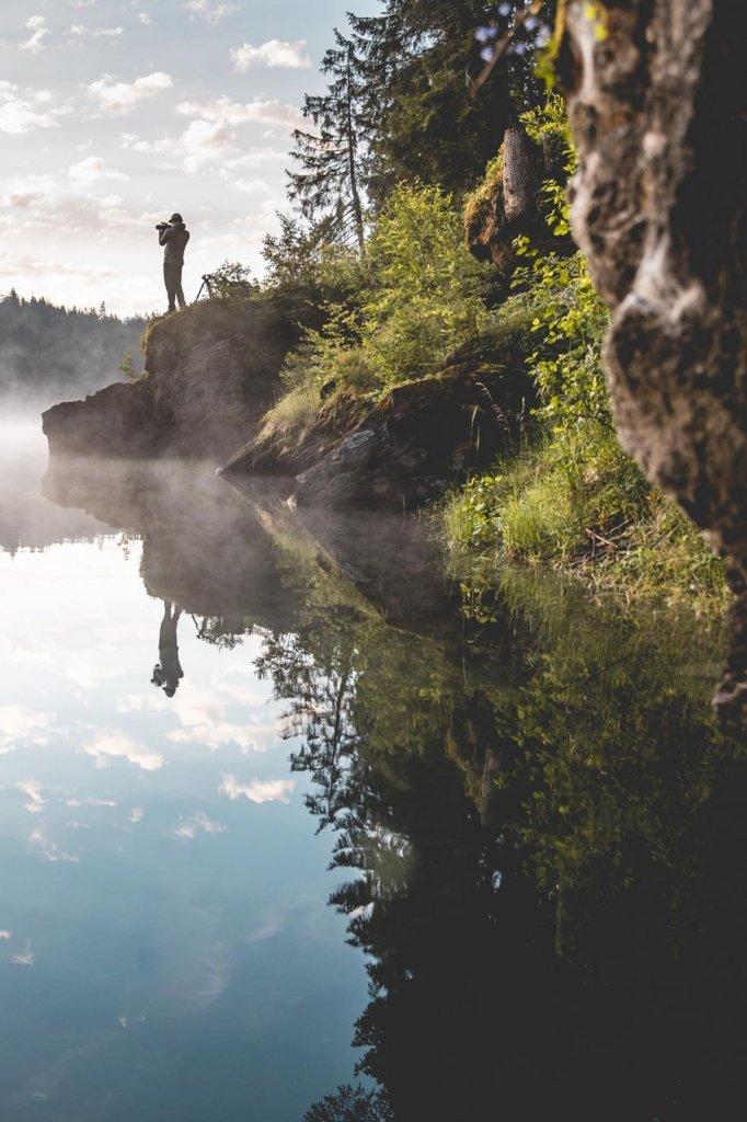 Sjoerd aan het fotograferen in Zwitserland, gefotografeerd door Frank van Hulst