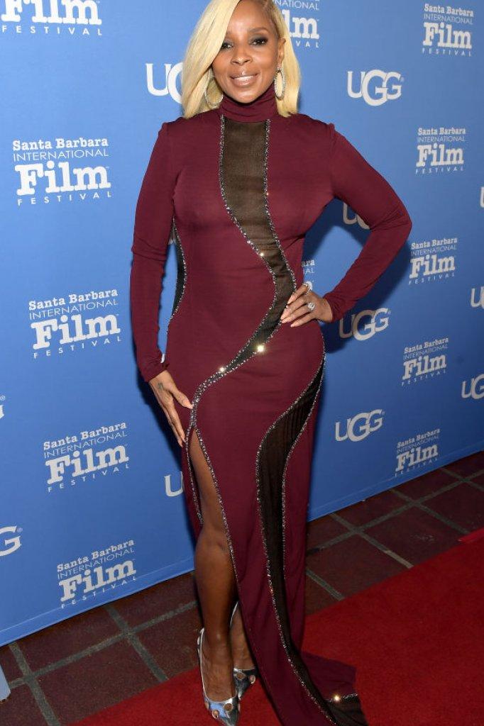 """Mary J Blige droeg mijn 'Cece Power Stiletto' tijdens het Santa Barbara International Film Festival."""