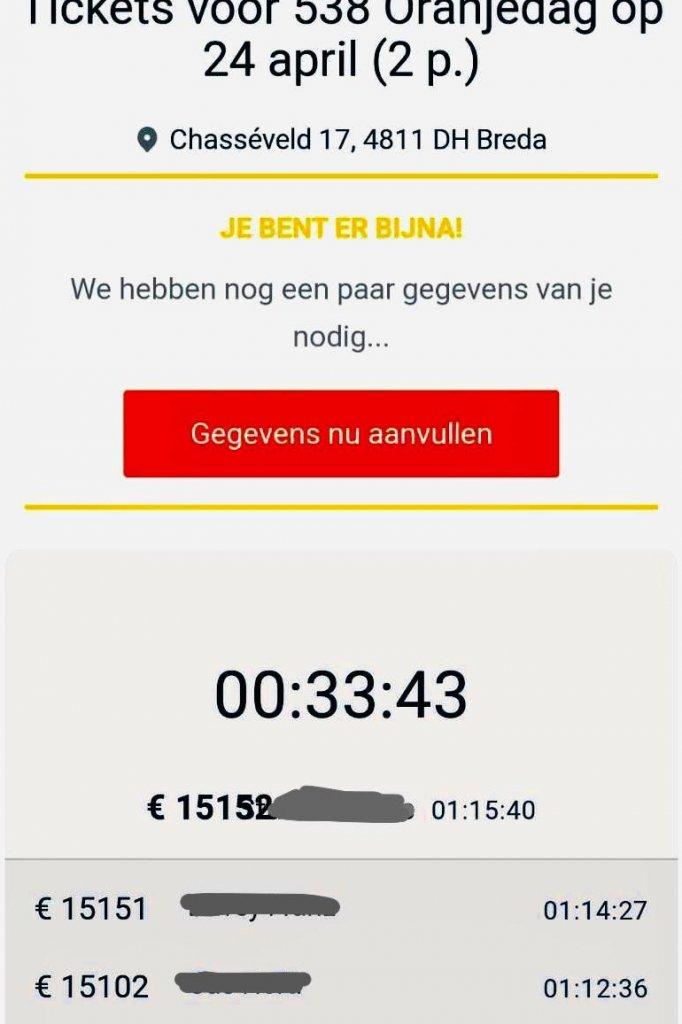 Afgelopen nacht werd er ruim 15.000 euro geboden