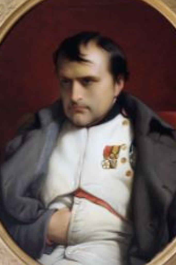 Met de karakteristieke hand in het vest. Portret Napoleon uit 1841.
